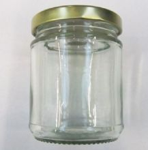 NEW Nutleys 190ml Round Glass Jam Jar with screw type lid (Pack of 6)